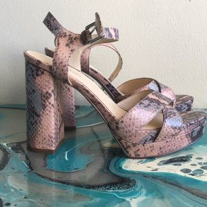 Nine West Snakeskin Heels